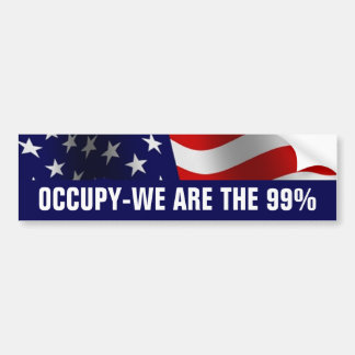 Occupy Wall Street 99 Prozent Autoaufkleber