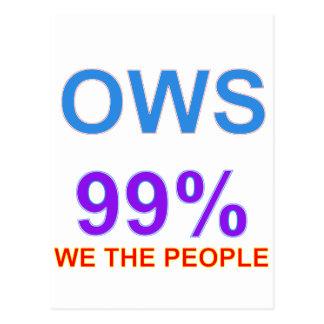 Occupy Wall Street 99% wir die Leute Postkarte