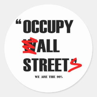 Occupy Wall Street alle Straßen sind wir die 99% Runder Aufkleber