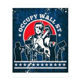 Occupy Wall Street Amerika New York Postkarte