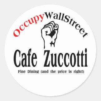 Occupy Wall Street - Café Zuccotti Runder Sticker