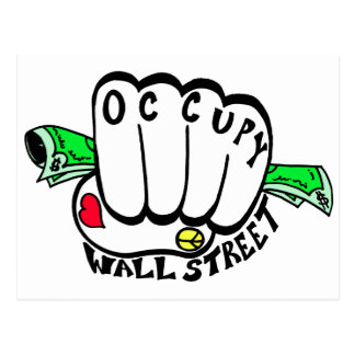 Occupy Wall Street-Faust Postkarte