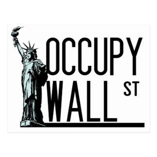Occupy Wall Street - Freiheitsstatue Postkarte