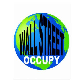 Occupy Wall Street global Postkarte