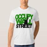 OCCUPY WALL STREET Grün Hemden