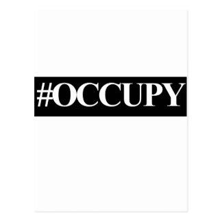 Occupy Wall Street hashtag Postkarte