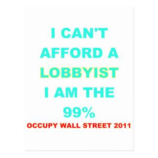 Occupy Wall Street I kann sich einen Lobbyisten Postkarte