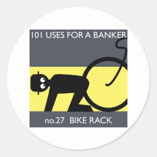 Occupy Wall Street - nehmen Sie Ihr Fahrrad! Runder Aufkleber