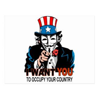 Occupy Wall Street Onkel-V Postkarte