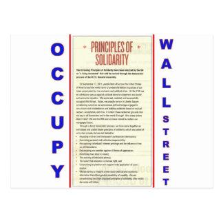 Occupy Wall Street-Prinzipien der solidarität Postkarte