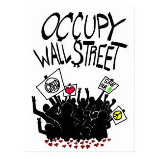 Occupy Wall Street-Protest Postkarte