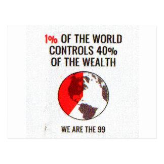 Occupy Wall Street - Reichtum der 1% Postkarte