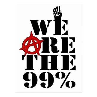 Occupy Wall Street sind wir die 99% Postkarte