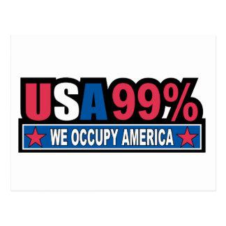 Occupy Wall Street… sind wir die 99% Prozent Postkarte