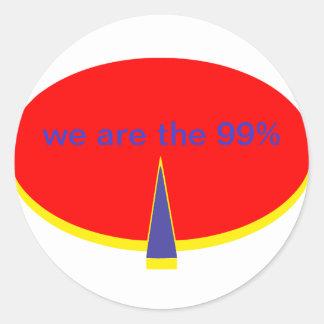 """""""Occupy Wall Street sind wir die 99 Prozent """" Runder Aufkleber"""