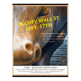 Occupy Wall Street-Vorlagen-Flyer Postkarte