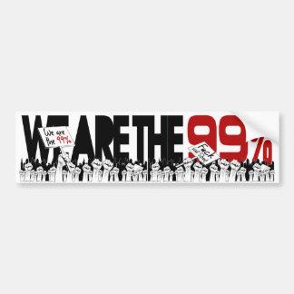 Occupy Wall Street - wir sind die 99% Autoaufkleber