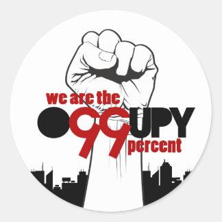Occupy Wall Street - wir sind die 99 Prozent Runder Aufkleber