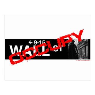 Occupy Wall Street-Zeichen Postkarte