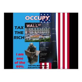 Occupy Wall Street - Zuccotti Park 2011 Postkarte