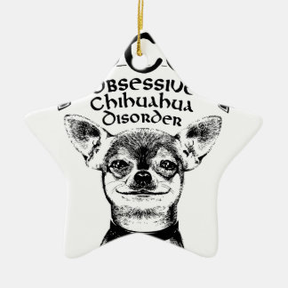 OCD besessene Chihuahua Keramik Ornament