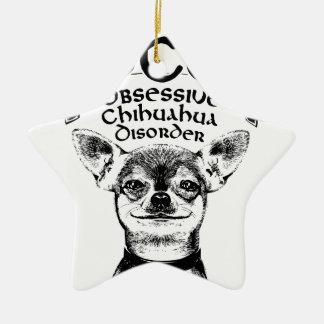 OCD besessene Chihuahua Keramik Stern-Ornament