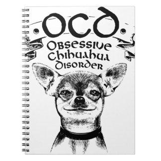 OCD besessene Chihuahua Spiral Notizblock