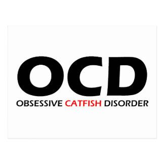 OCD - Besessene Wels-Störung Postkarte