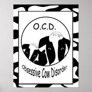OCD besessenes Kuh-Störungs-Plakat Poster