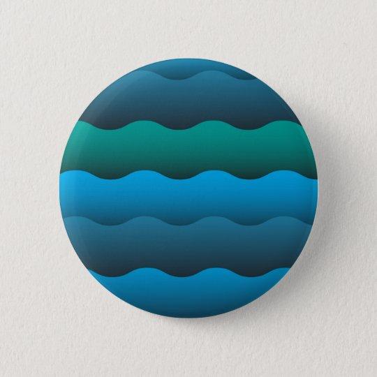 Ocean Waves Runder Button 5,1 Cm