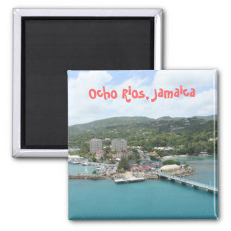 Ocho Rios, Jamaika-Magnet Quadratischer Magnet