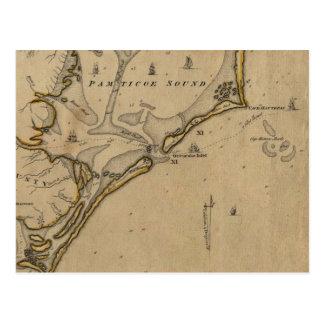 Ocracoke Einlass-North Carolina 1775 Postkarte