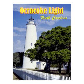 Ocracoke Leuchtturm, North Carolina Postkarte