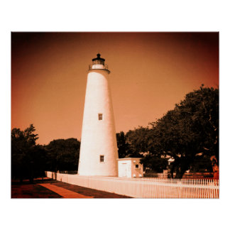 Ocracoke Leuchtturm Poster