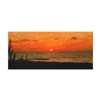 Ocracoke Sonnenaufgang Leinwand Druck