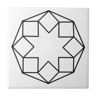 Octagon-Quadrat Keramikfliese