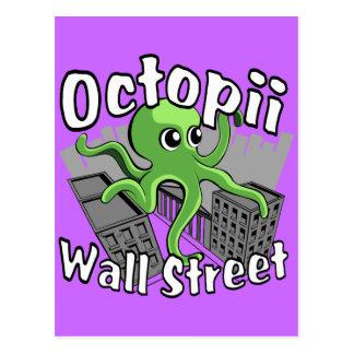 Octopii Wall Street - besetzen Sie Wall Street! Postkarte
