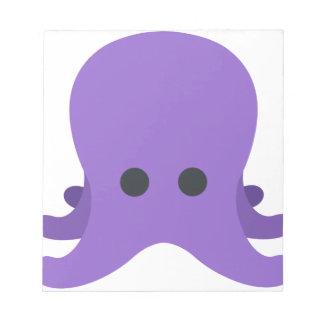 Octopuss Emoji Notizblock