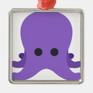 Octopuss Emoji Silbernes Ornament