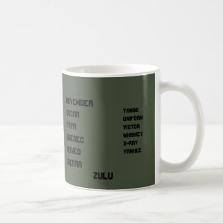 Od grünes NATO-Alphabet Kaffeetasse