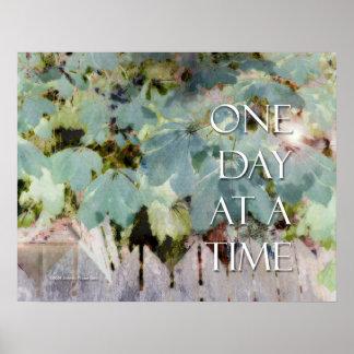 ODAT Blätter und Zaun-Plakat Poster