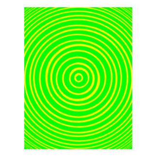 Oddisphere Gelbgrün-optische Täuschung Postkarte
