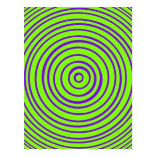 Oddisphere lila Limone optische Illusion Postkarte