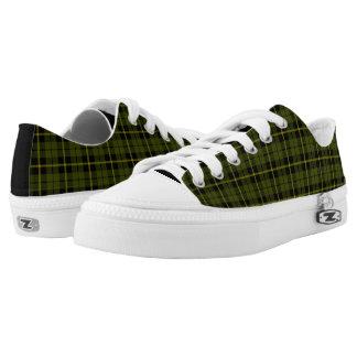 Odee, Armee, grüner karierter gelber/schwarzer Niedrig-geschnittene Sneaker