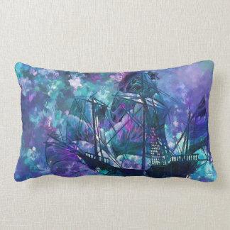 oder abstraktes lila Aquainnenschiff im Freien Lendenkissen