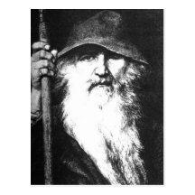 Odin der Wanderer Postkarte