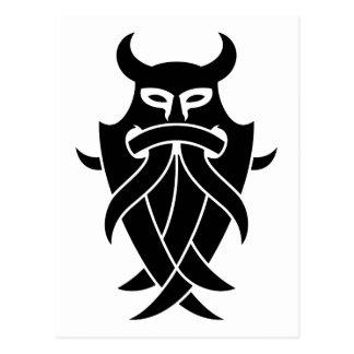 Odins Maske Stammes- (Schwarzes) Postkarte