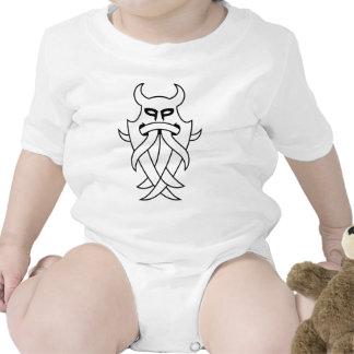 Odins Maske Stammes- (Schwarzes umrissen) Babybodys