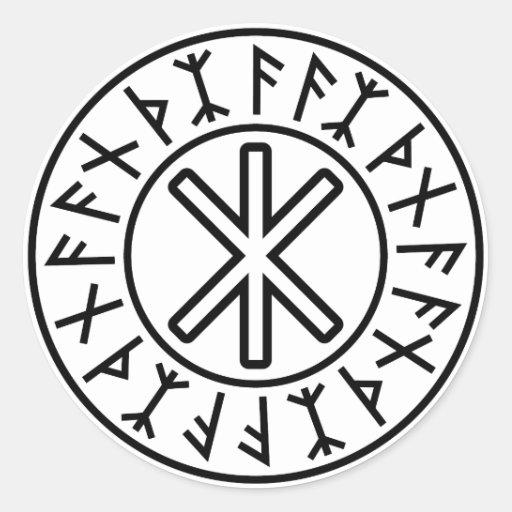 Odins Schutz No.2 (Schwarzes) Aufkleber