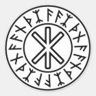 Odins Schutz No.2 (Schwarzes) Runder Aufkleber